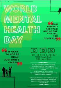 Mental Health day Celebration modern college, Pune